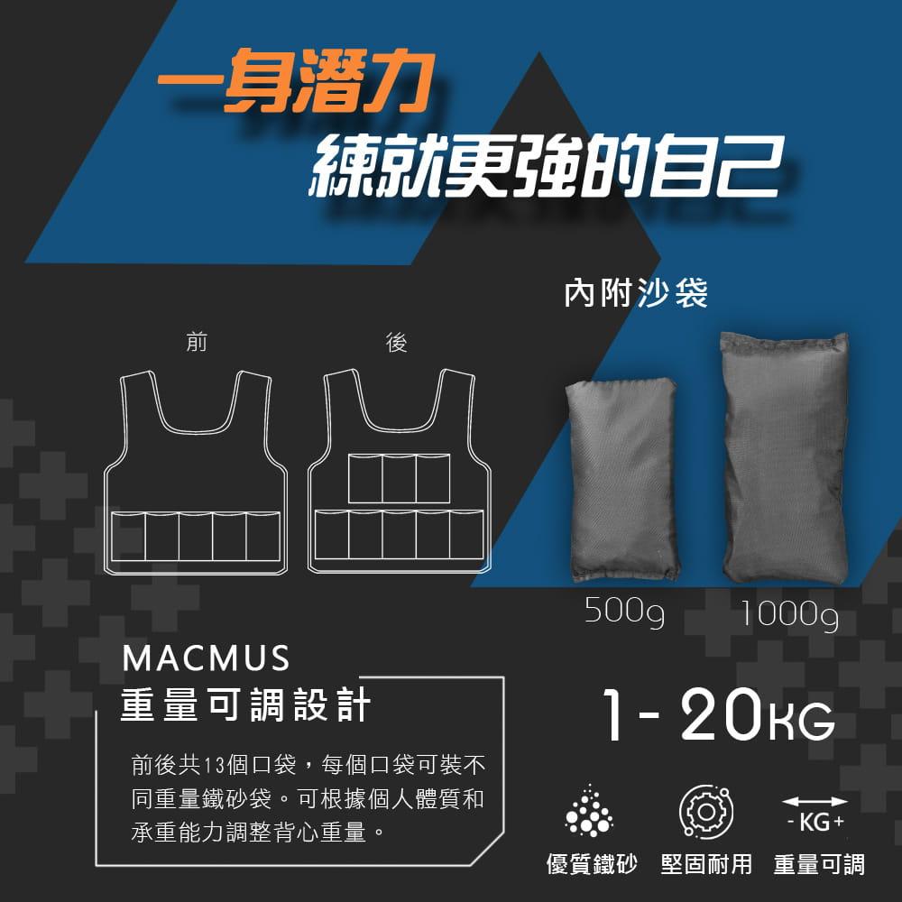 【MACMUS】5公斤 可調整負重背心|10小包鐵砂 2