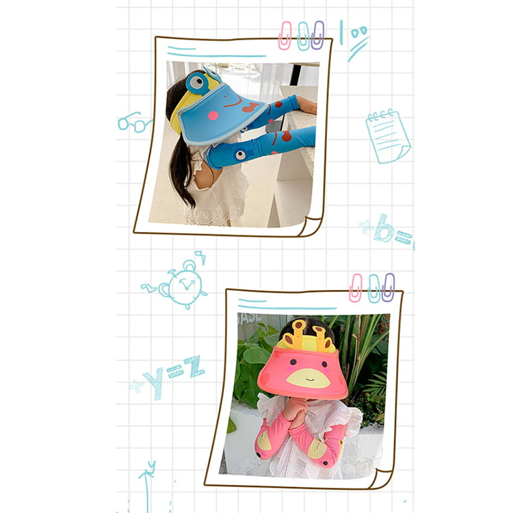 【JAR嚴選】兒童涼感防曬遮陽帽 (送袖套) 9
