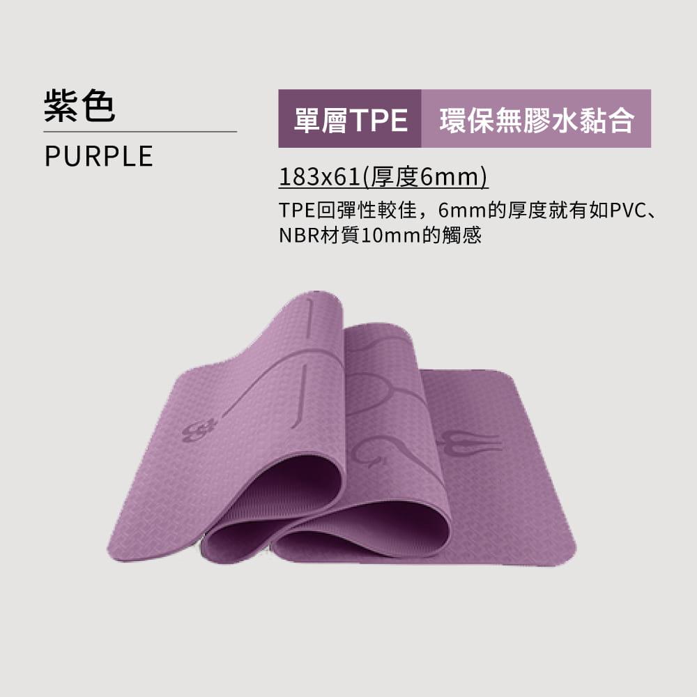 TPE雙色輔助線瑜珈墊(加贈背帶+透氣網袋)-7色可選 18