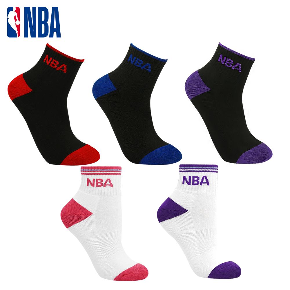 【NBA】運動休閒緹花毛圈短襪 0