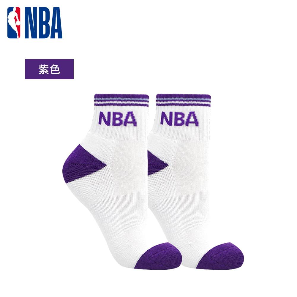 【NBA】運動休閒緹花毛圈短襪 7