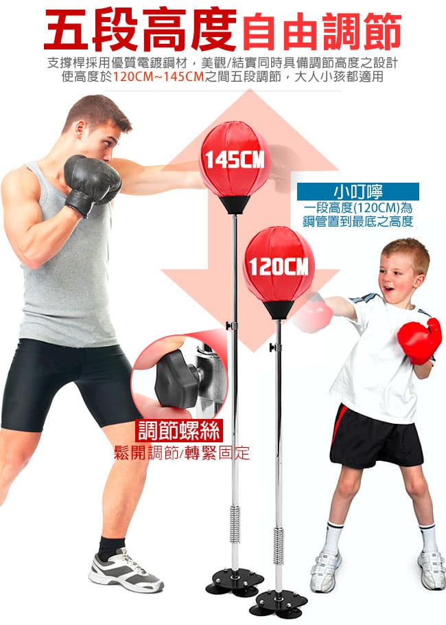 吸盤底座立式速度球(送拳擊手套+打氣筒) 4