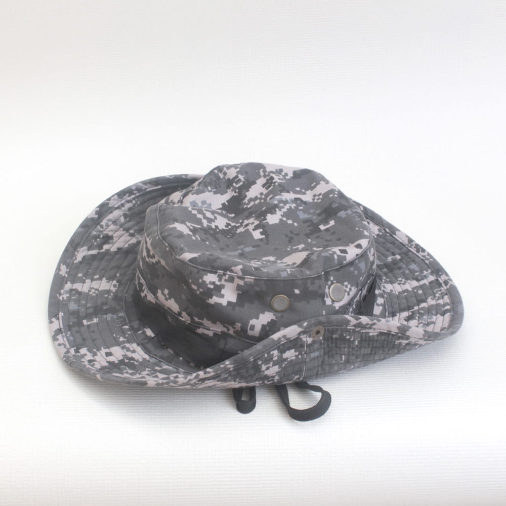 【E.City】可翻釦迷彩風戶外遮陽帽漁夫帽 7
