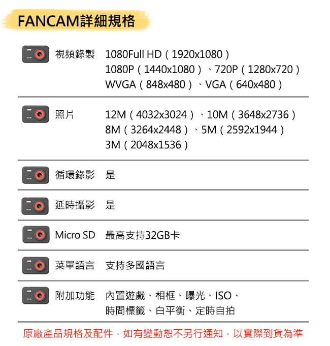 【SJCAM】【贈32記憶卡】FUNCAM高清1080P兒童專用相機 (卡通版/單色版) 10
