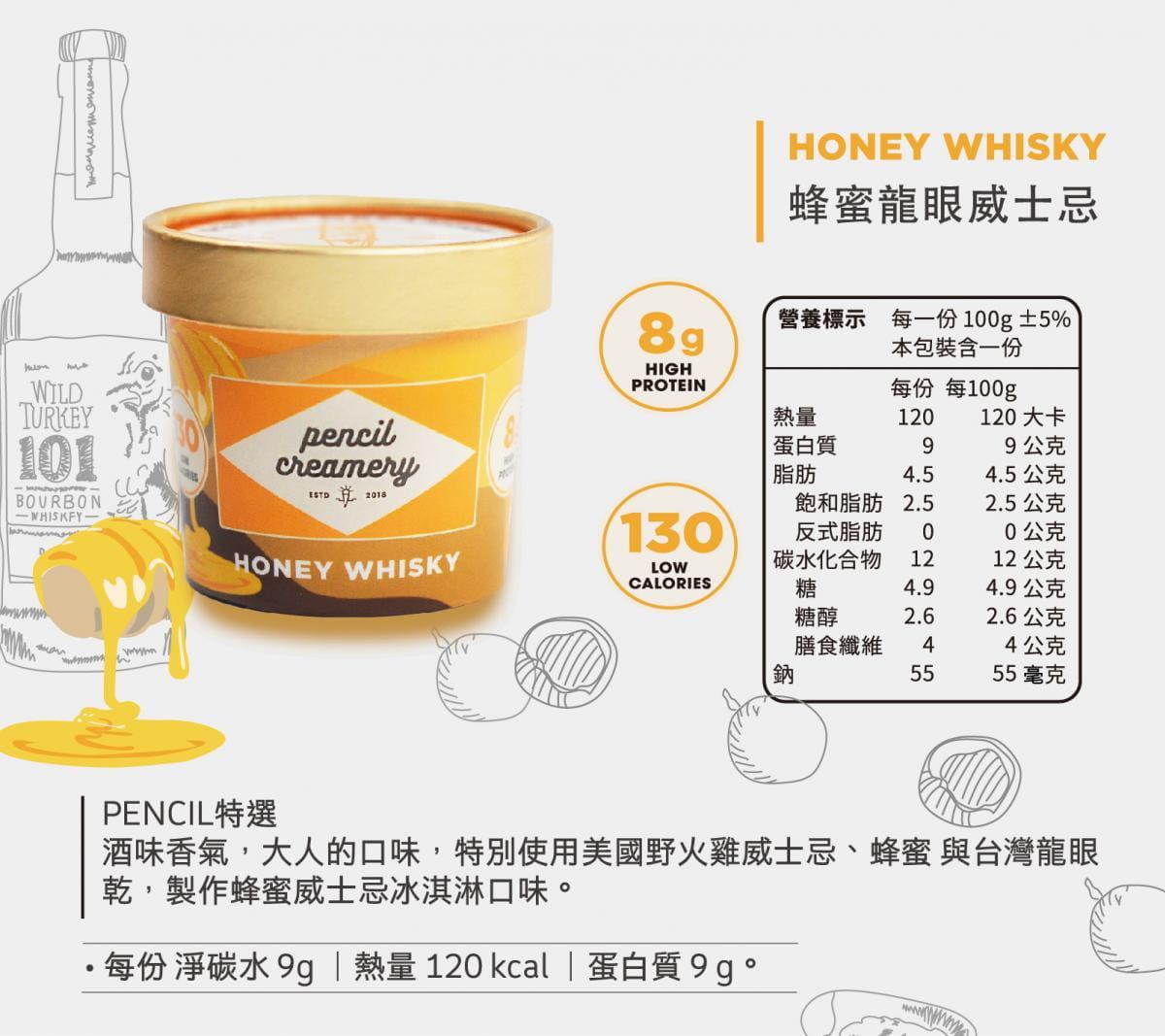 【PENCIL CREAMERY】低脂高蛋白冰淇淋6入起/盒(口味任選) 7