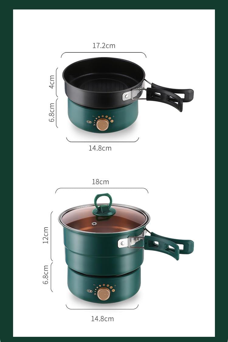 (快速出貨)小倉Ogula 多功能便攜式美食鍋1.6L(電煮鍋/快煮鍋/料理鍋/調理鍋電火鍋) 2