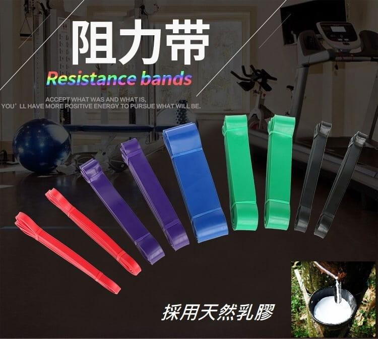 拉力帶 阻力帶 彈力帶 超級拉力帶 環狀阻力帶 (25-65LB)-黑 0