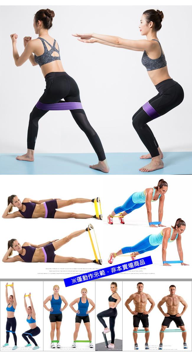 棉質防滑環狀彈力帶(加厚不捲邊) 翹臀圈乳膠阻力繩拉筋阻力帶 6