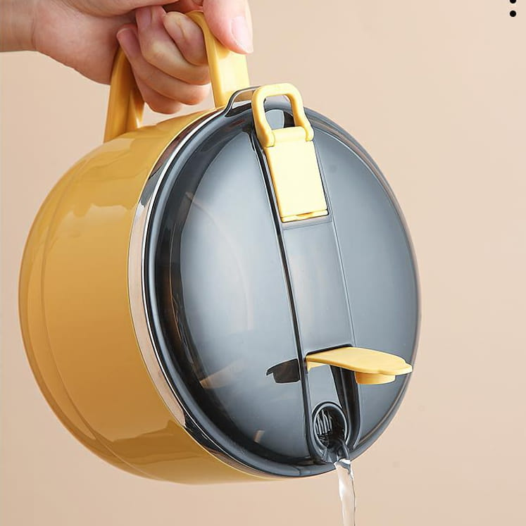 【1300ml】304不鏽鋼泡麵碗 蓋子可瀝水 蓋子可當手機架 SG9139泡麵碗 304不鏽鋼碗 8
