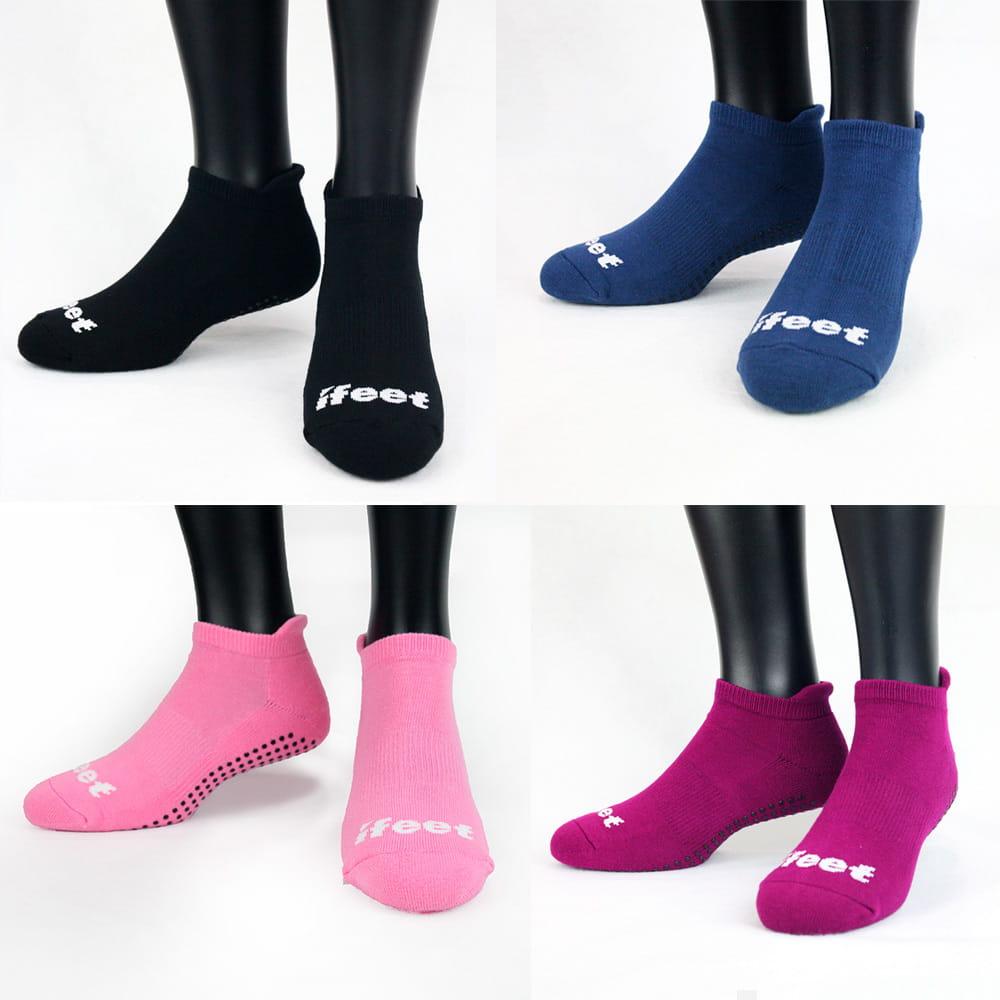 【老船長】(8310)有氧瑜珈運動止滑襪-紫色 6