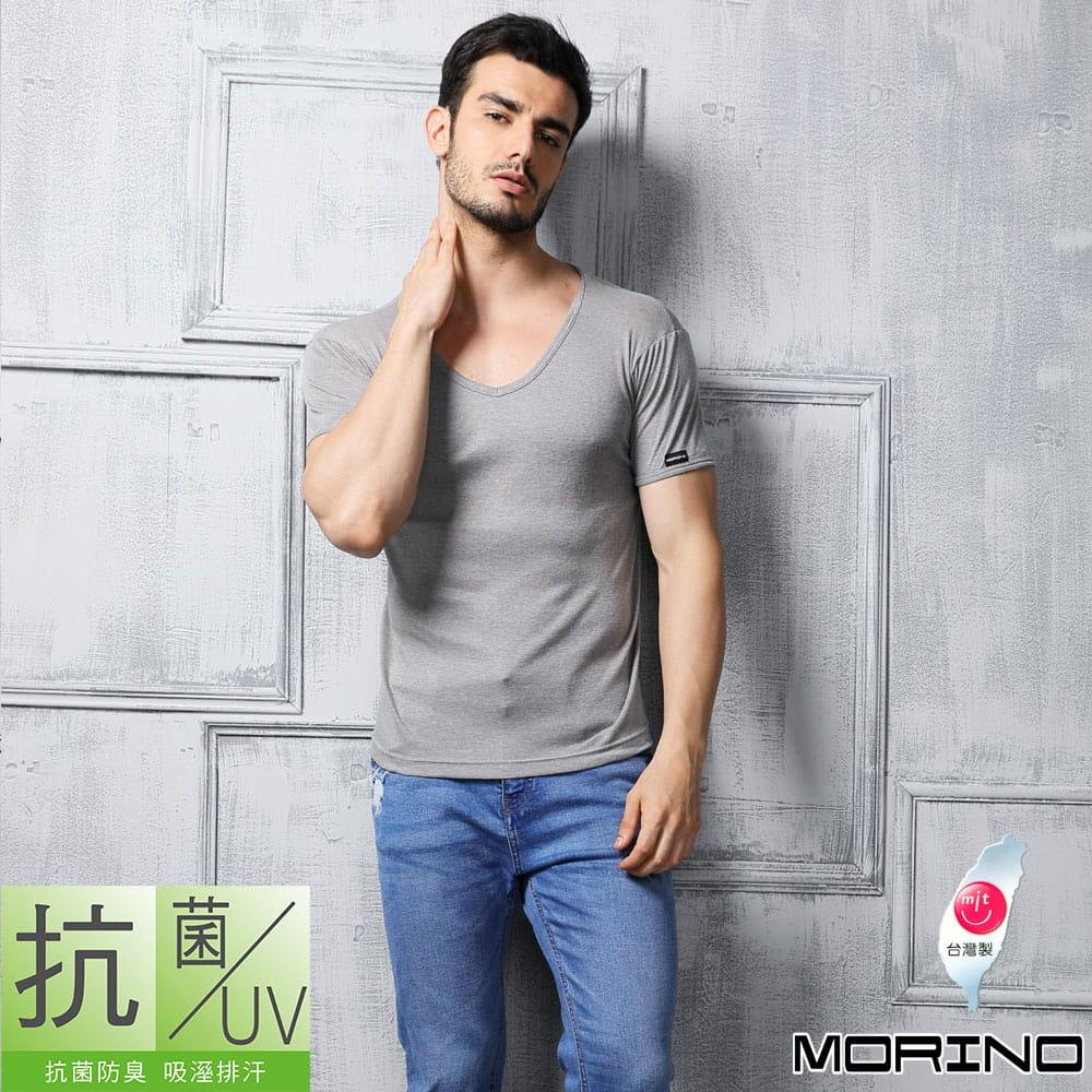 【MORINO摩力諾】抗菌防臭速乾短袖V領衫 3
