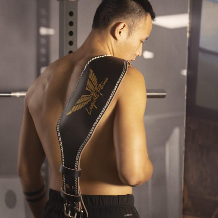 【LEXPORTS 勵動風潮】專業重訓健美腰帶 ◆ 皮革雙扣腰帶 4