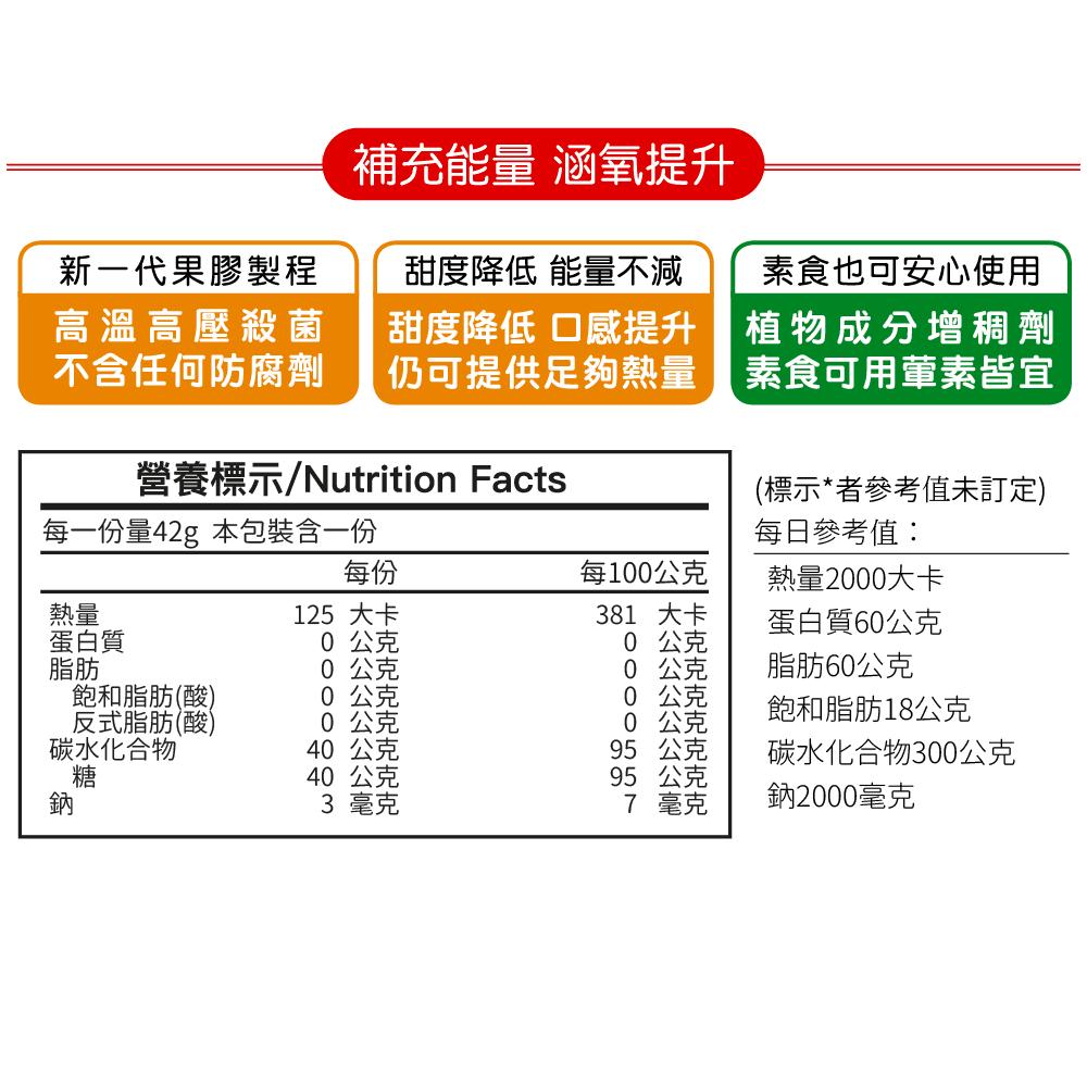 【RacingPro】涵氧能量果膠(42g/包) 1