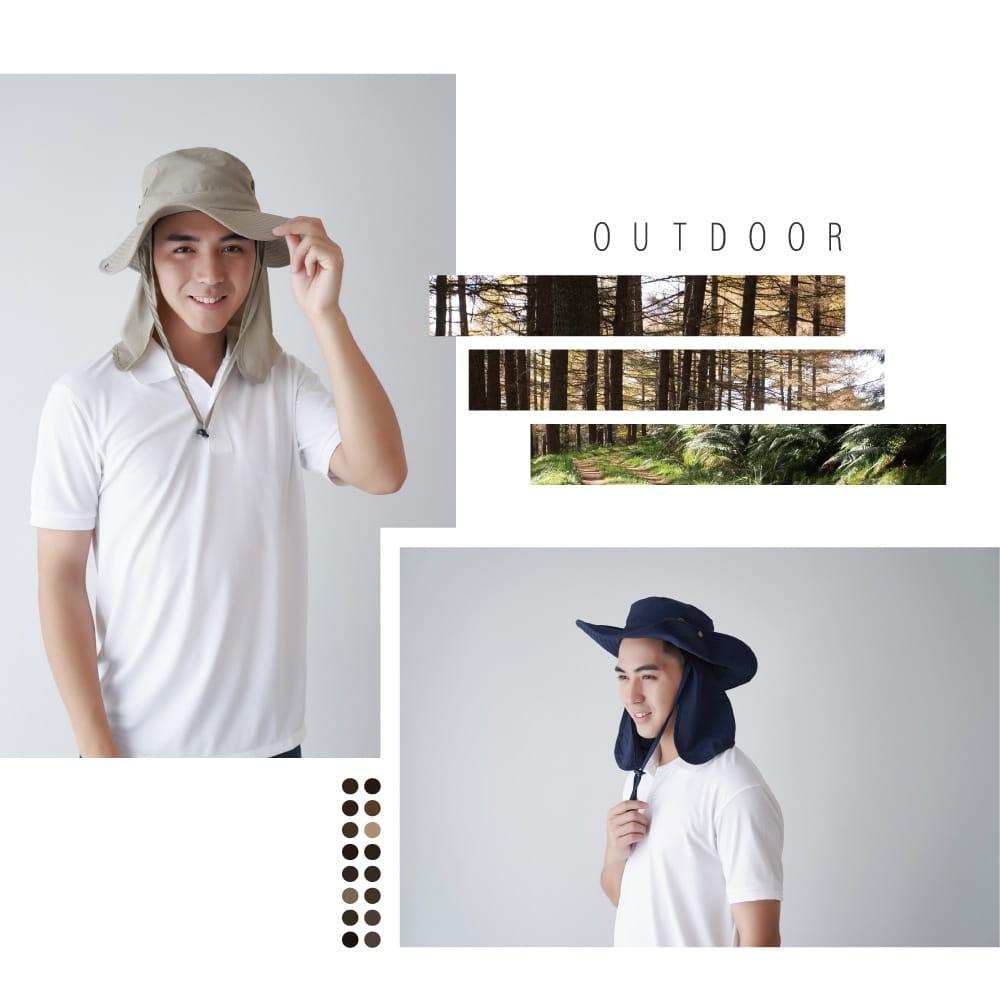 【Peilou】UPF50+多功能休閒遮陽帽-男女款 10