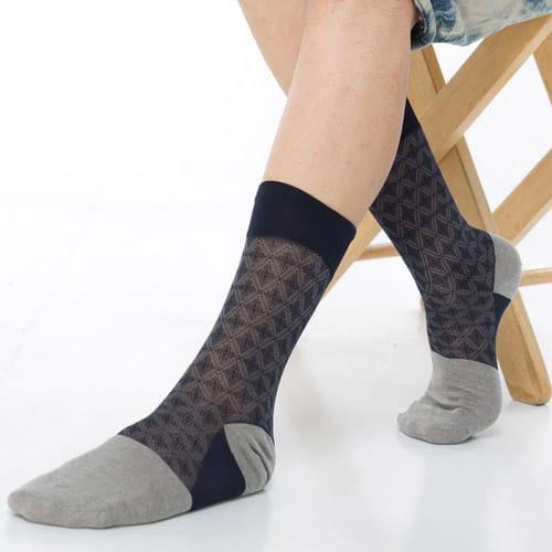 【KEROPPA可諾帕】奈米竹炭絲光棉紳士男襪x2雙C90008 0