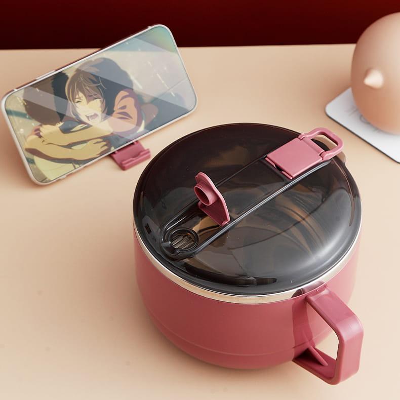 【1300ml】304不鏽鋼泡麵碗 蓋子可瀝水 蓋子可當手機架 SG9139泡麵碗 304不鏽鋼碗 6