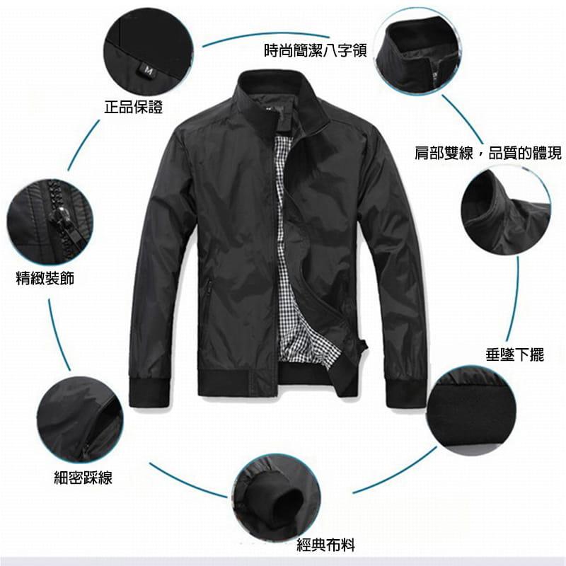 【JAR嚴選】男士時尚秋冬簡約修身夾克外套 5