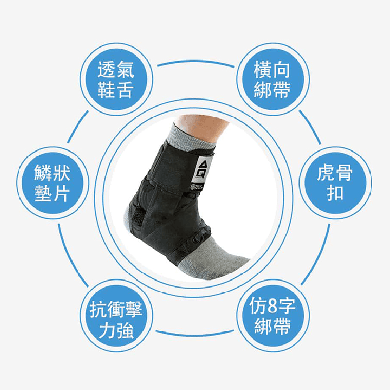 【AQ SUPPORT】AQ籃球抗衝擊強化護踝 2