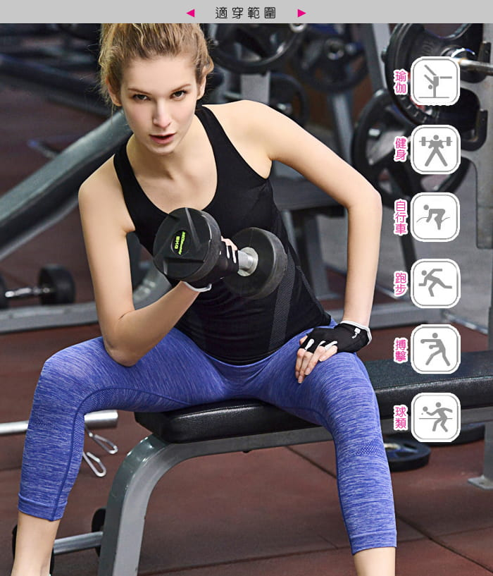 【Un-Sport高機能】高彈力AB紗透氣托肌七分褲(瑜伽/健身/跳舞) 8