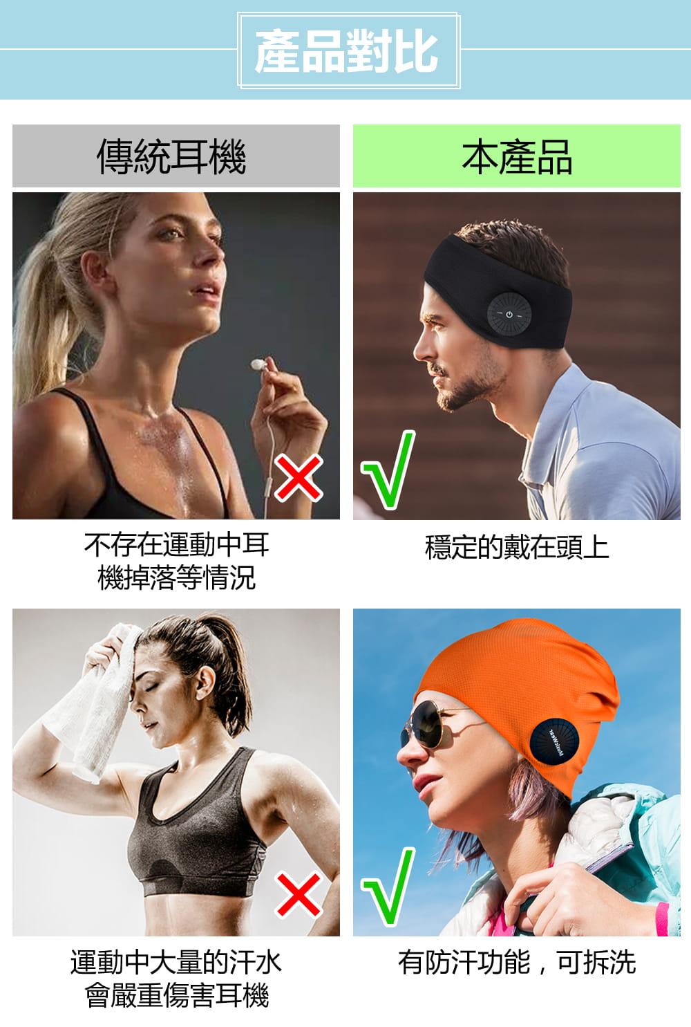 運動頭巾 藍牙耳機帽 4