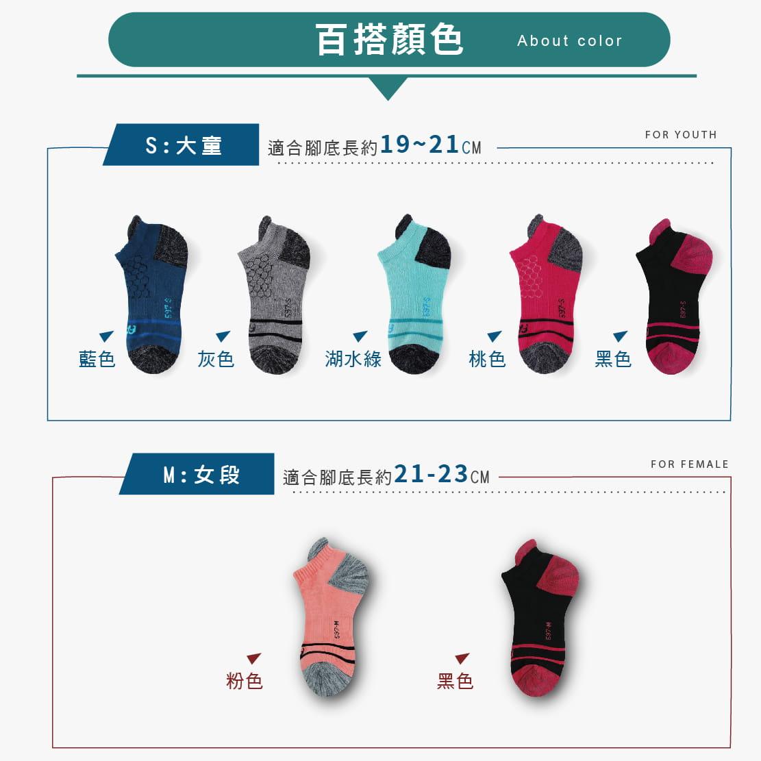 【FAV】後跟防磨除臭男女運動短襪 6