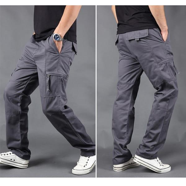 超彈力耐磨多口袋工作褲 12