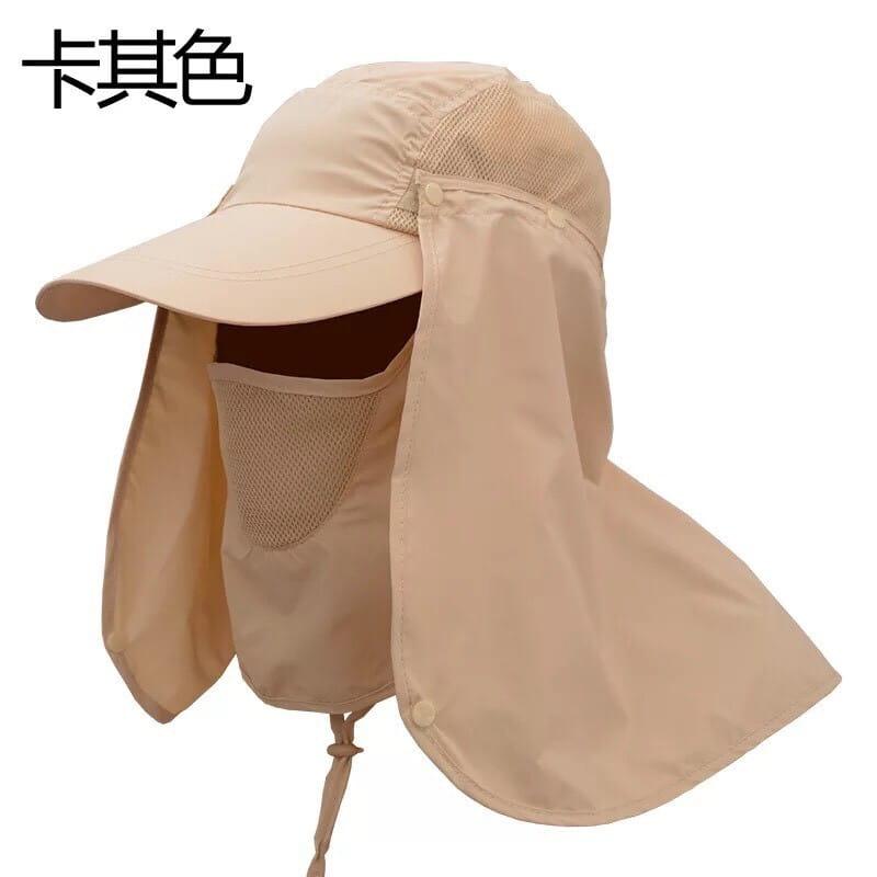 UPF50+抗UV高防曬速乾護頸遮陽帽 13