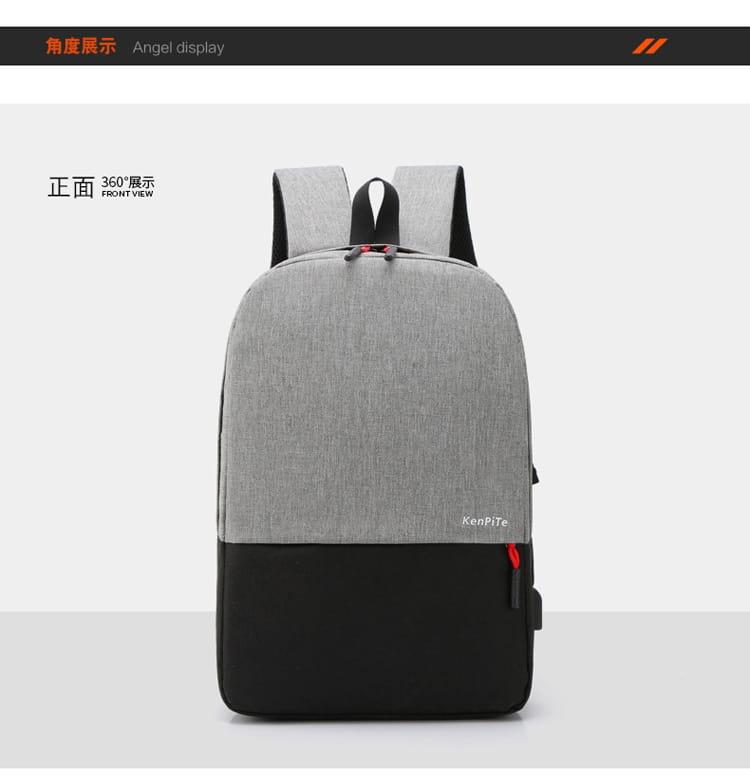 【JAR嚴選】防盜耐磨可充電式多功能雙肩電腦包 11