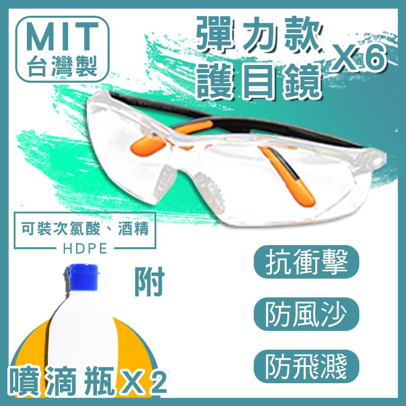 MIT強化彈力護目鏡附兩用噴霧罐(可分裝酒精)【現貨供應中】