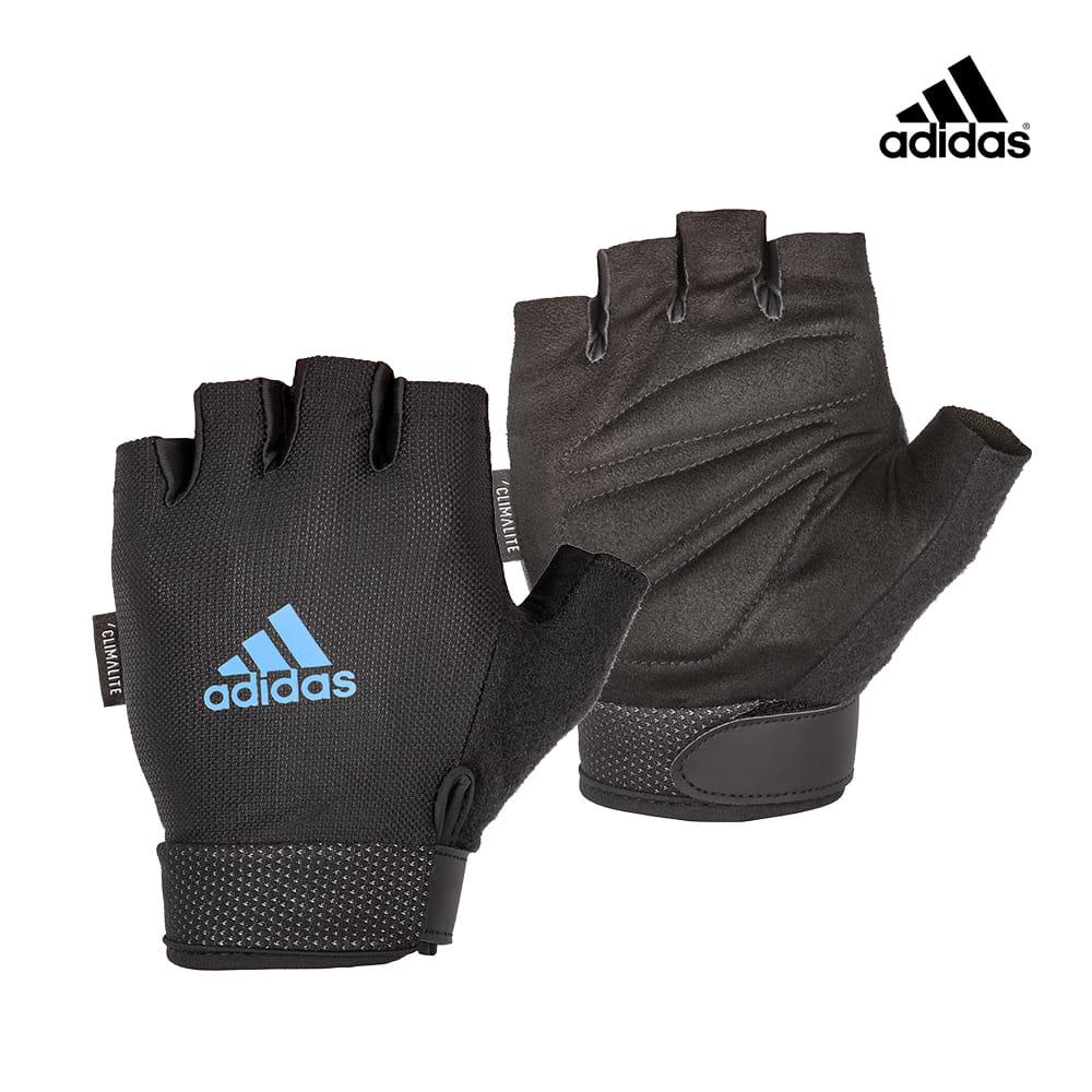 可調式透氣短指訓練手套(藍)