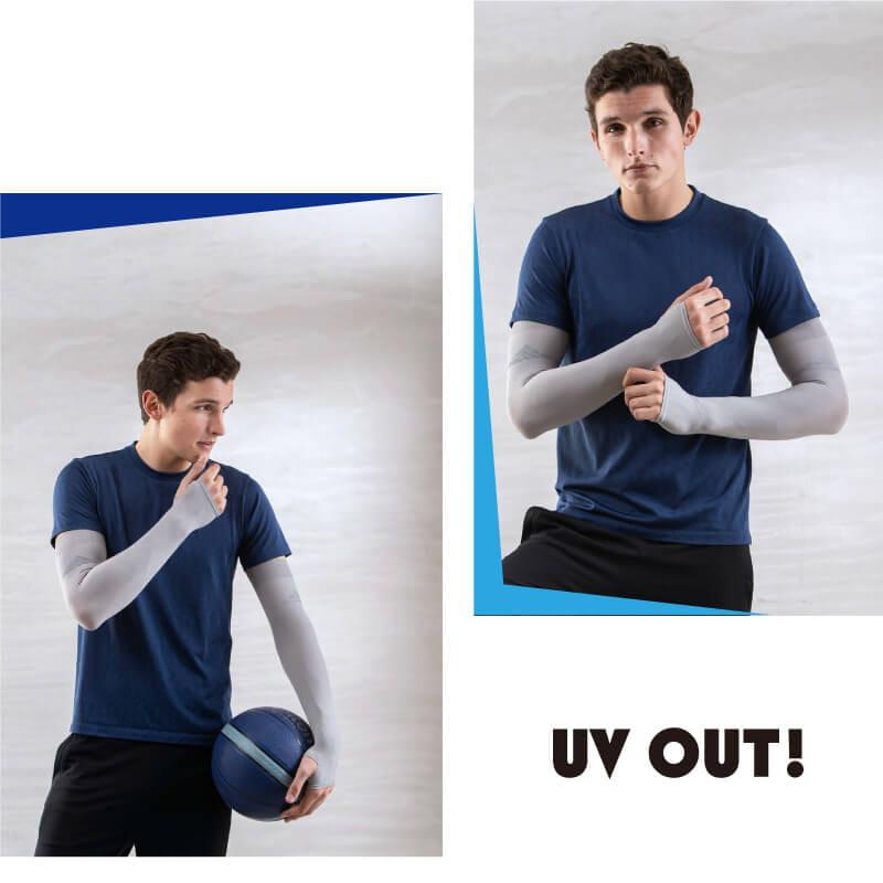 【Peilou】高效涼感機能防蚊抗UV防曬袖套_純色加大 4