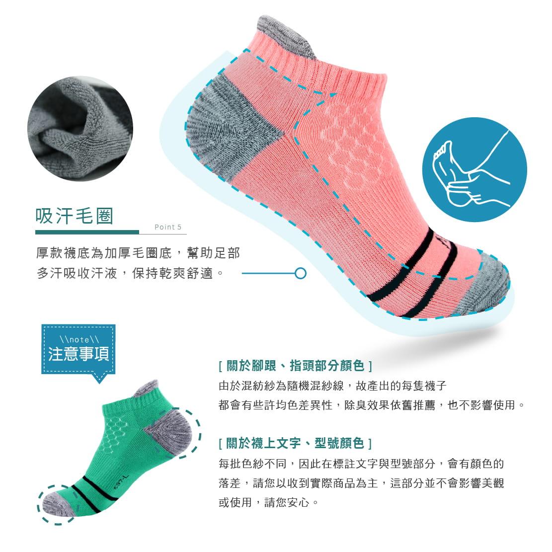 【FAV】後跟防磨除臭男女運動短襪 3