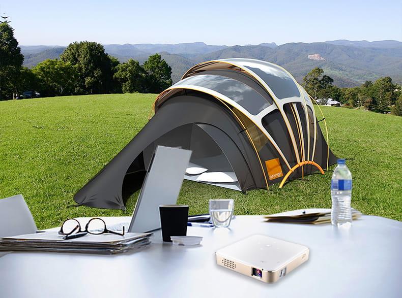 超小型 露營專用 高清DLP微型投影機