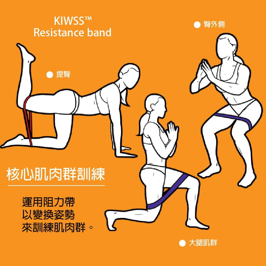 【50磅 黑色 50cm】KIWSS凱沃斯 天然乳膠阻力圈 6