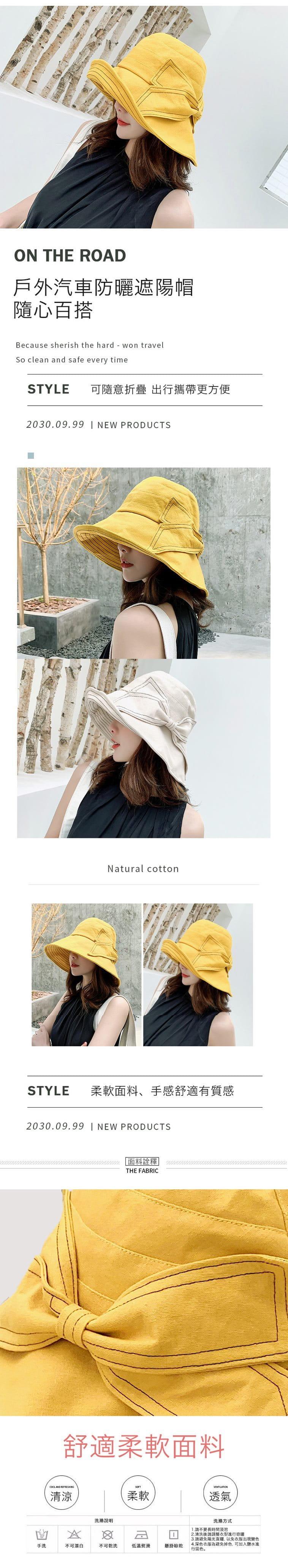 防曬護臉透氣折疊遮陽帽 1