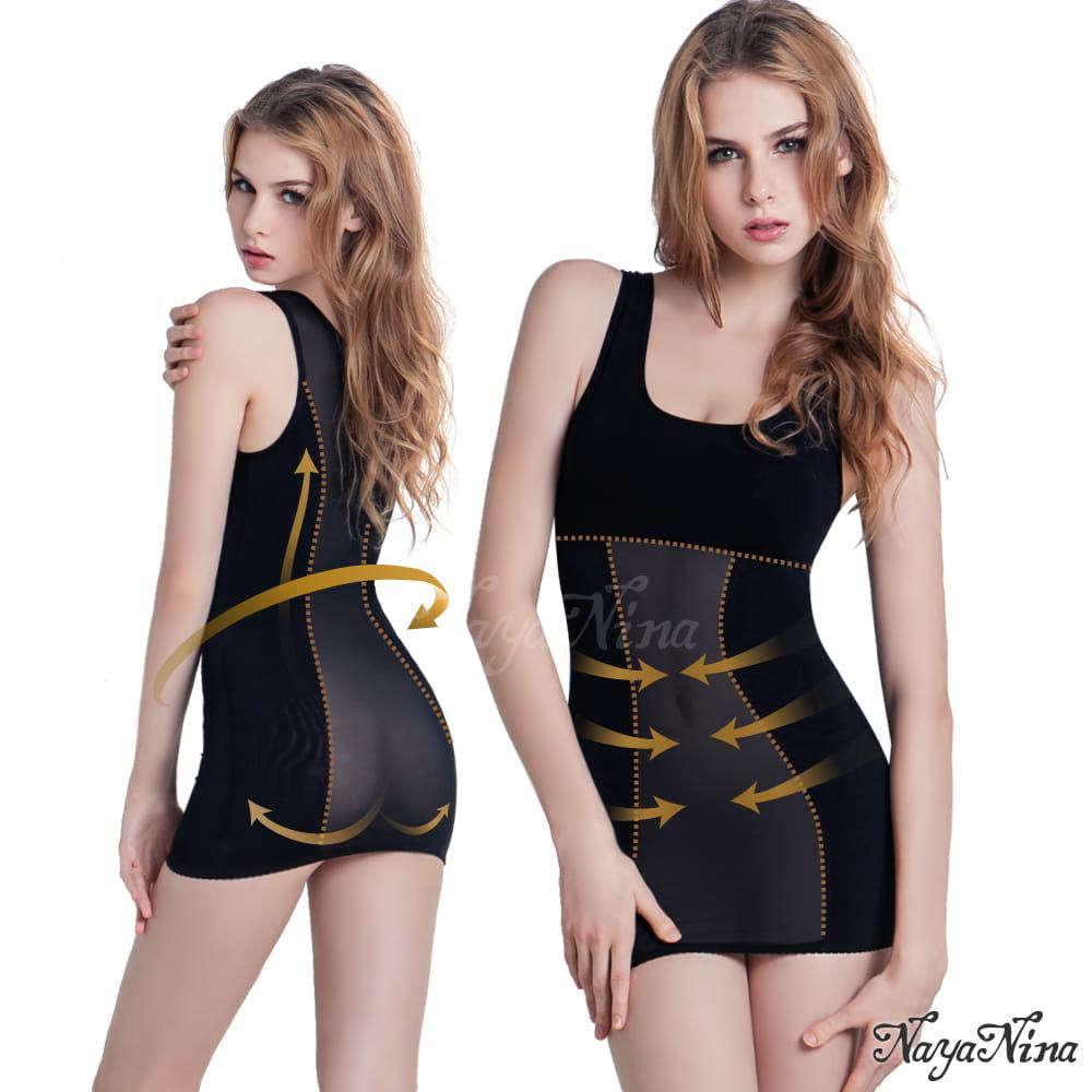 搶救S腰․長版寬肩帶美體塑身衣M-XXL全尺碼_兩色可選
