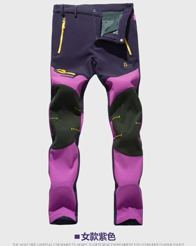 【加絨加厚】拼色防風防水衝鋒褲 戶外機能工作褲【CP16007】 16