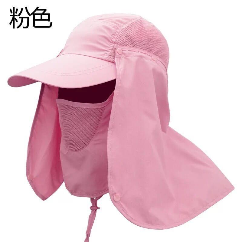 UPF50+抗UV高防曬速乾護頸遮陽帽 15