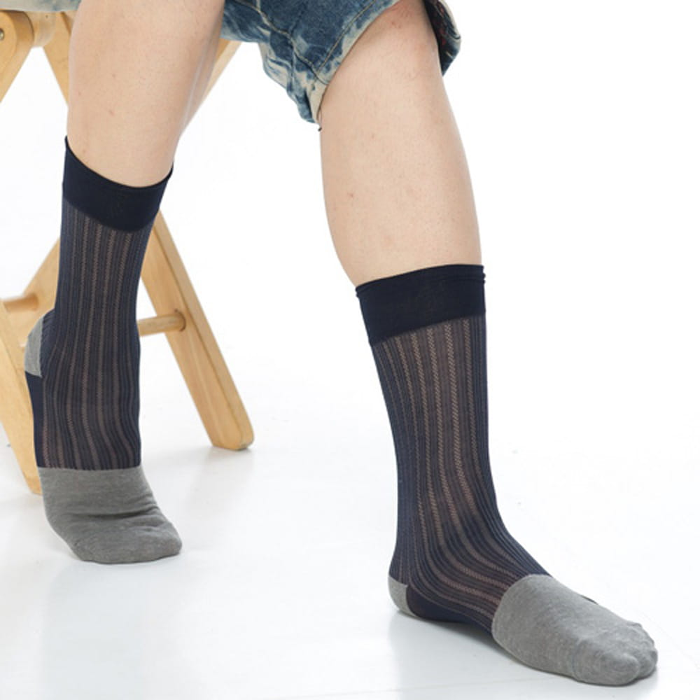 【KEROPPA可諾帕】奈米竹炭絲光棉紳士男襪x2雙C90007 1