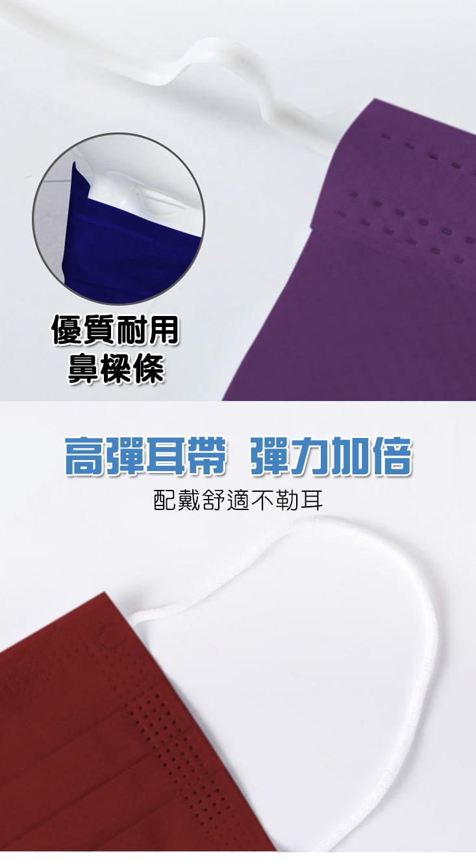 炫彩熔噴布高效防護清淨口罩(50片袋裝) 7