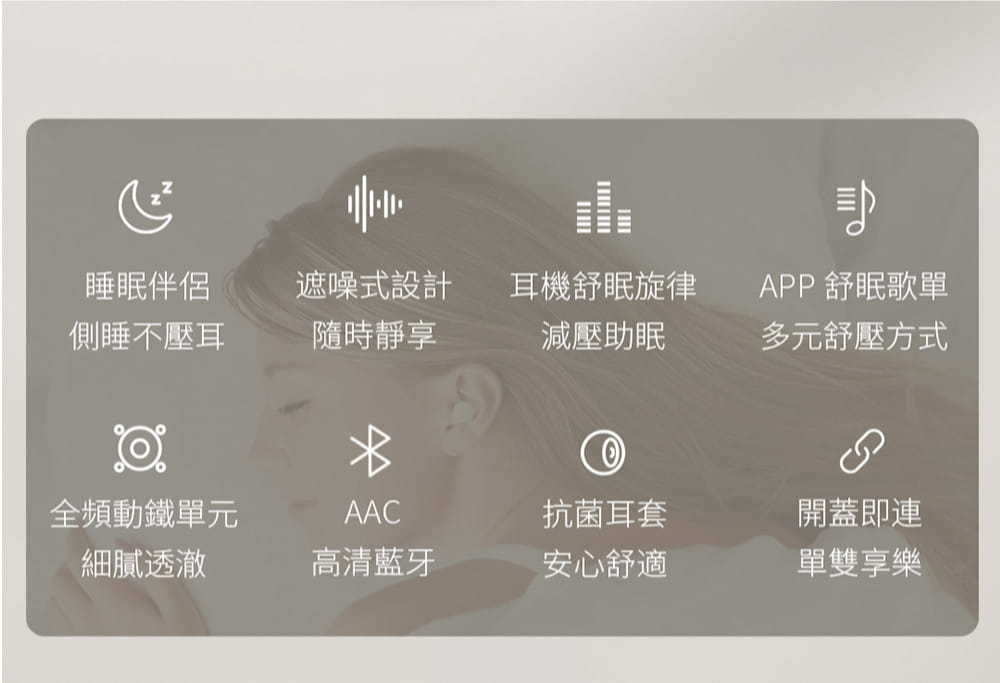 1MORE ComfoBuds Z EH601 睡眠豆真無線耳機-白色 20