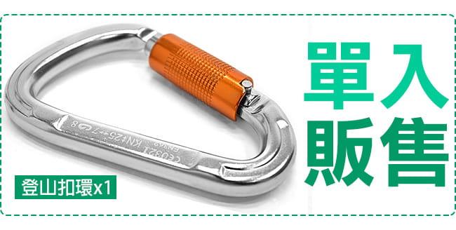 大號鋁合金D型扣環(自動主鎖)   大D扣登山扣環.攀岩扣鎖 2