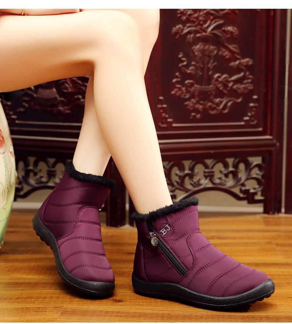 防水保暖防滑厚毛絨雪靴(36-42碼/3色可選) 11