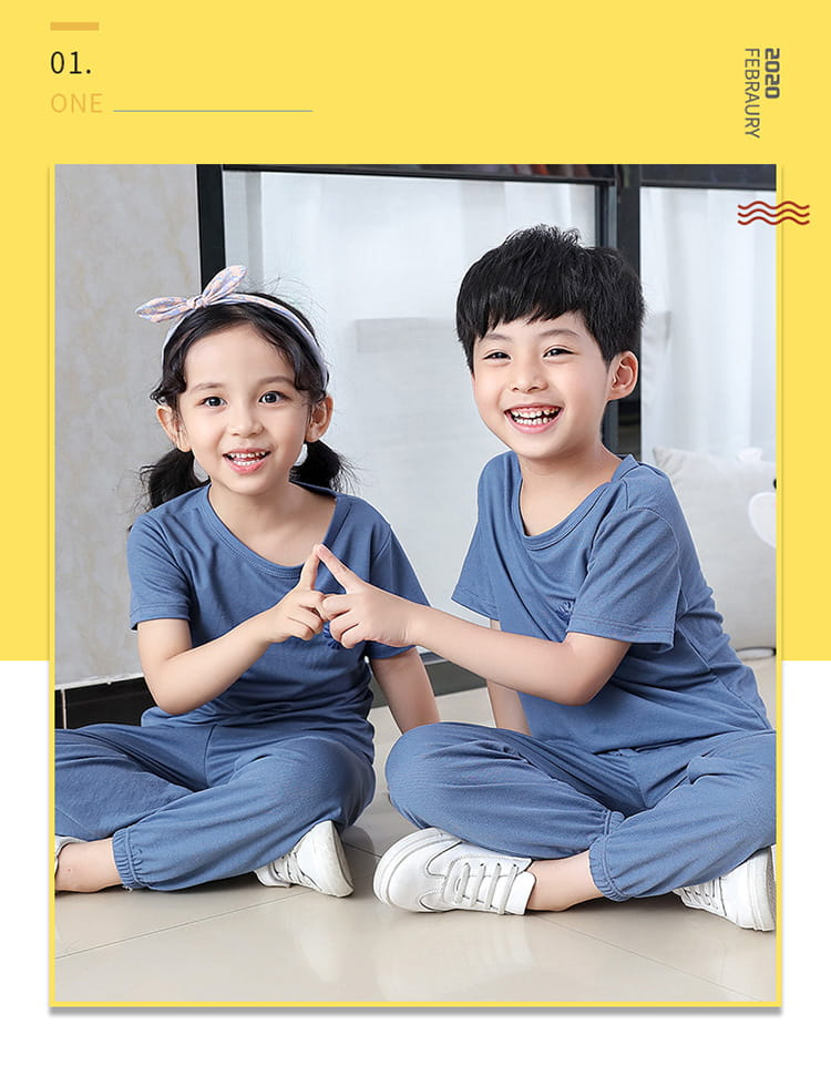 【JAR嚴選】兒童冰絲防蚊休閒兩件套套裝 1