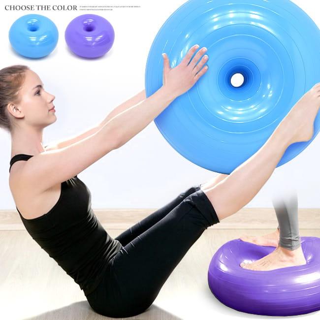 加厚甜甜圈瑜珈球    50CM蘋果球坐墊球 0