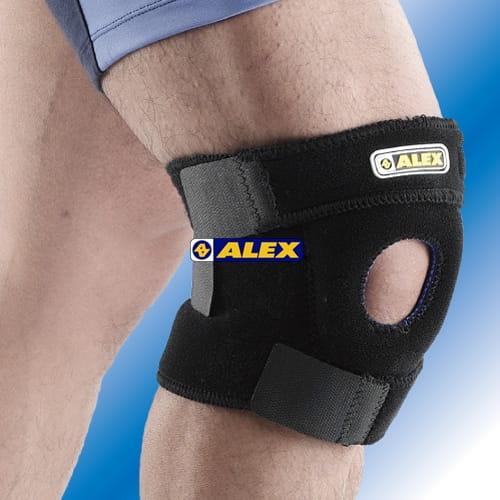 【ALEX】 T-20中長型護膝 跑步 慢跑 馬拉松 羽毛球 騎車 三鐵各種運動適用 台灣製造 1