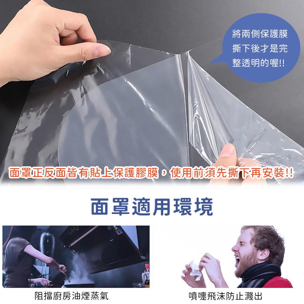 頭戴式防飛沫防護面罩 7