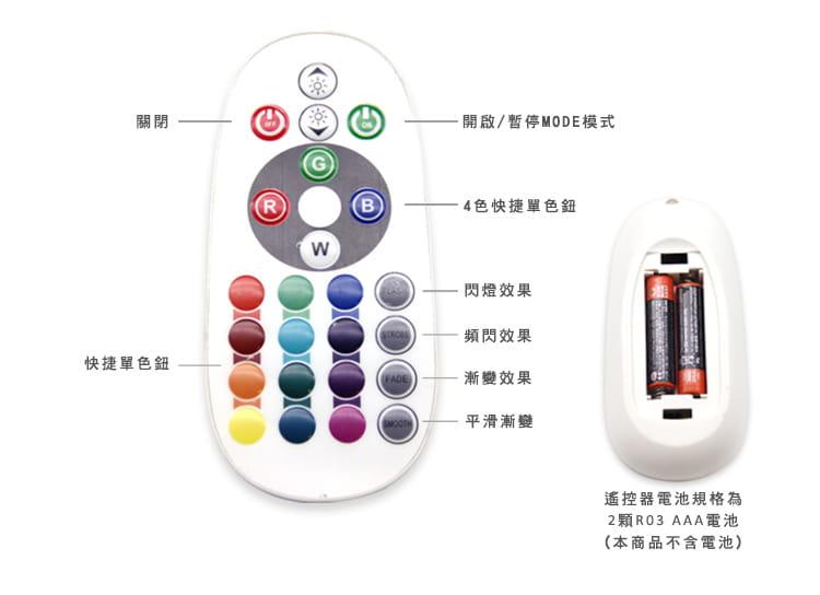 唯一RGB可串接五米5050 LED發光防水露營燈條 6