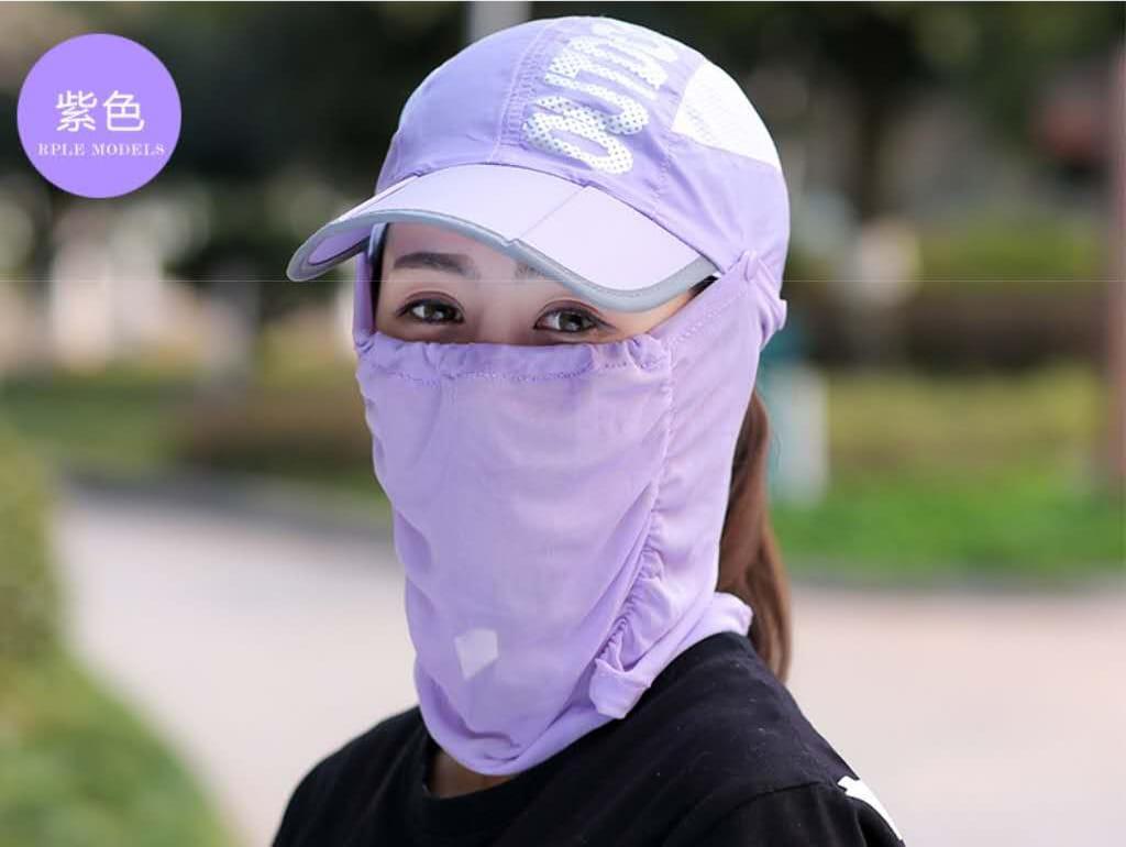 網頂全罩式可折疊防曬帽 夏天\遮臉\鴨舌太陽帽\戶外\折疊\紫外線\電動車\遮陽帽/自行車/腳踏車 12