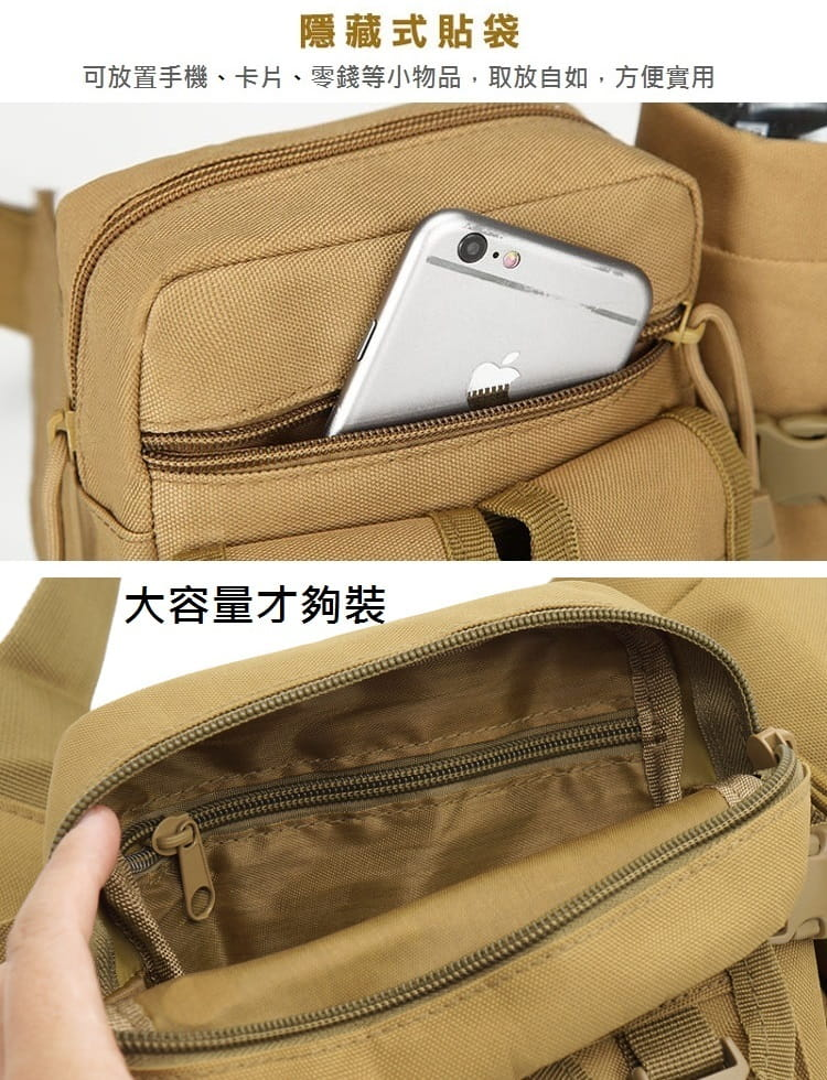 多功能休閒戶外戰術水壺腰包 手機掛包 【AE16162】 4